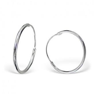 """Stříbrné náušnice kruhy """"Sonia"""". 1,2x18 Ag 925/1000"""